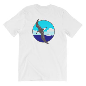 Gulf Stream BACK-PRINT Unisex short sleeve t-shirt