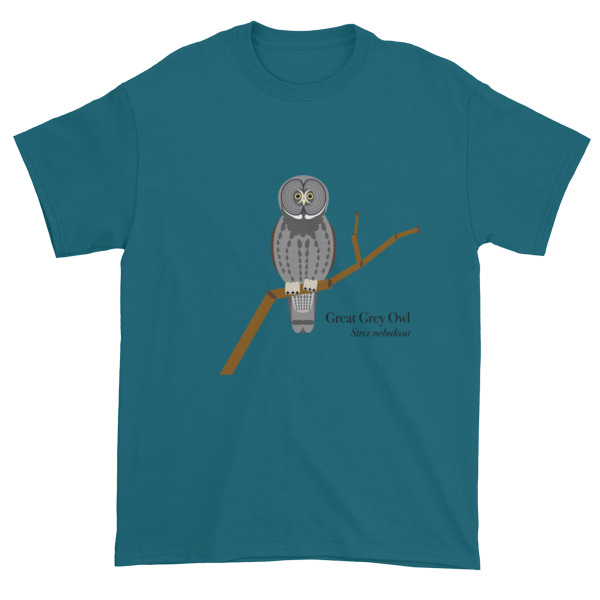 Great grey owl short sleeve t shirt code 5 design T shirt with owl design