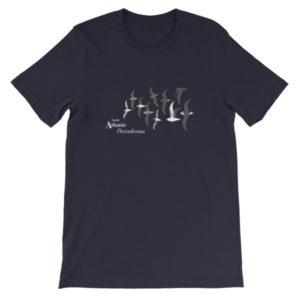 NA Pterodroma (White Ink) Unisex short sleeve t-shirt