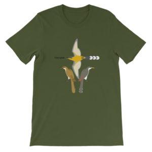 3 Cuckoos Unisex short sleeve t-shirt