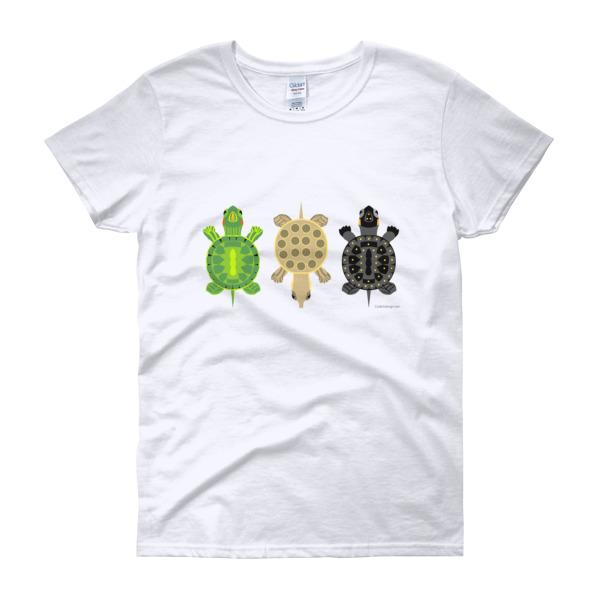 Little turtles women s short sleeve t shirt code 5 design for Turtle t shirts online
